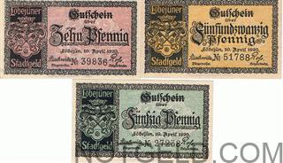 Loebujuen - set of 3 verkehrsausgaben notes