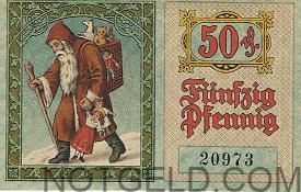 Santa notgeld piece