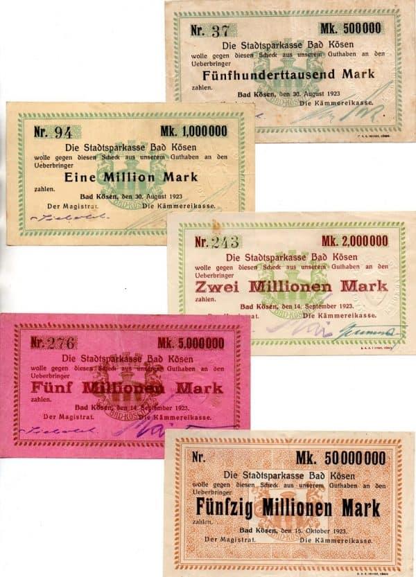 inflationary notgeld from 1923 Bad Kosen
